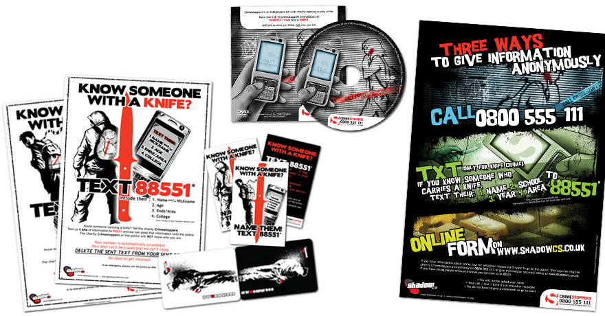 Crimestoppers: artwork, DVD authoring, posters, OysterCard wallet